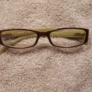 DKNY glasses, brown light green